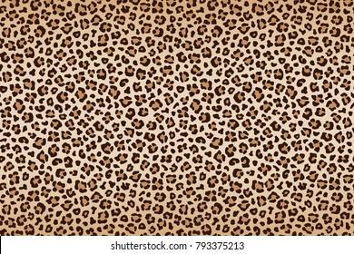 Leopard texture, brown beige with darker border. Vector