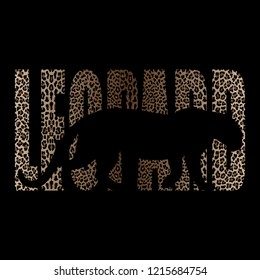Leopard T-shirt fashion print with leopard silhouette and pattern