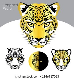 Leopard vector face head