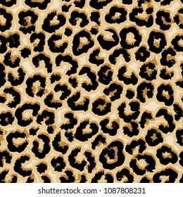 Leopard vector seamless pattern