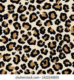Leopard vector seamless pattern art