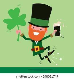 Leprechaun Celebrating St Patrick's Day