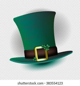 Leprechaun hat . St.Patrick 's Day. Vector illustration.