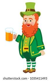 Leprechaun holding a beer mug