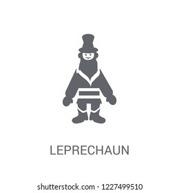 Leprechaun icon. Trendy Leprechaun logo concept on white background from Fairy Tale collection. Suitable for use on web apps, mobile apps and print media.