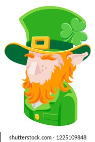 A Leprechaun man avatar cartoon person icon emoji