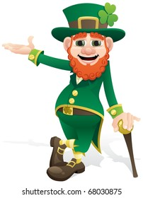 Leprechaun presenting your product or message.