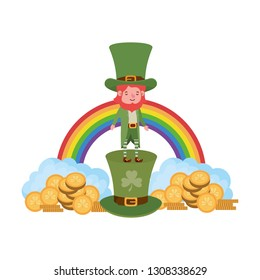 leprechaun with rainbow avatar character