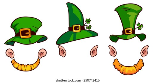 Leprechauns hats on a white background