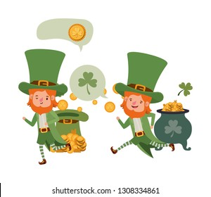 leprechauns with speech bubble avatar character