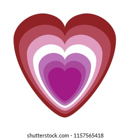 Lesbian community colours as heart symbol