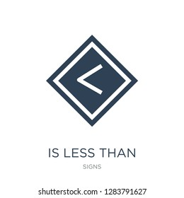 is less than icon vector on white background, is less than trendy filled icons from Signs collection, is less than vector illustration