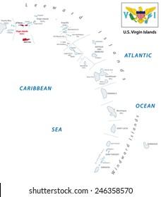 U S Virgin Islands Map Images, Stock Photos & Vectors | Shutterstock