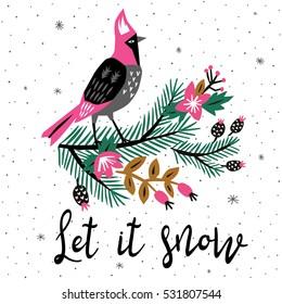 Let it Snow. Print Design