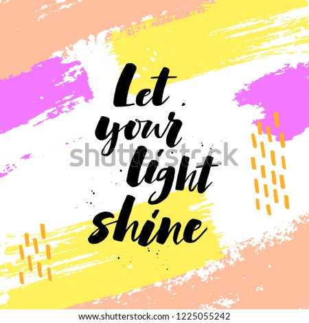 Let Your Light Shine Positive Saying Stock Vector Royalty Free