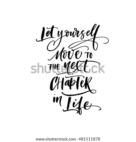 Let Yourself Move Next Chapter Life Stock Vector Royalty Free