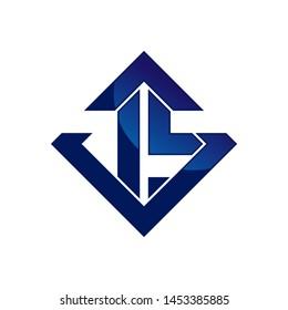 leter js logo design vector