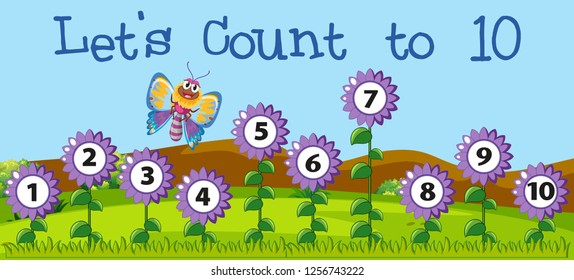 Let's count to 10 scene illustration