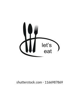 lets eat logo. pan restaurant logo