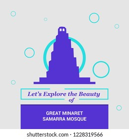 Let's Explore the beauty of Great Minaret Samarra Mosque Samarra, Iraq National Landmarks