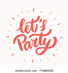 Let's party banner.