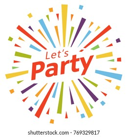 Let's party illustration vector