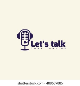 Let's talk logo template design. Vector illustration.