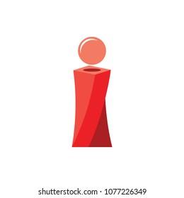 letter i 3d design logo vector