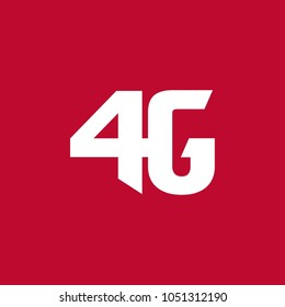 Letter 4G Logo Design