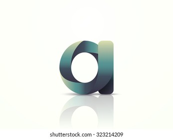 Letter A. Logo design. Vector illustration