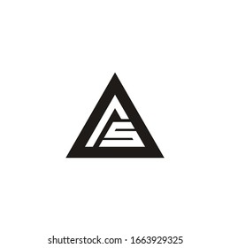 Letter A, AS logo Template Vector