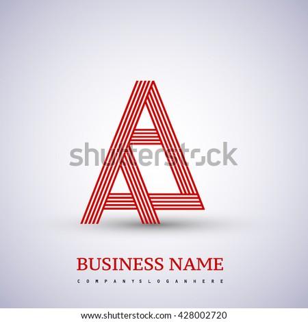 Letter Aa Linked Logo Design Symbol Stock Vector Royalty Free