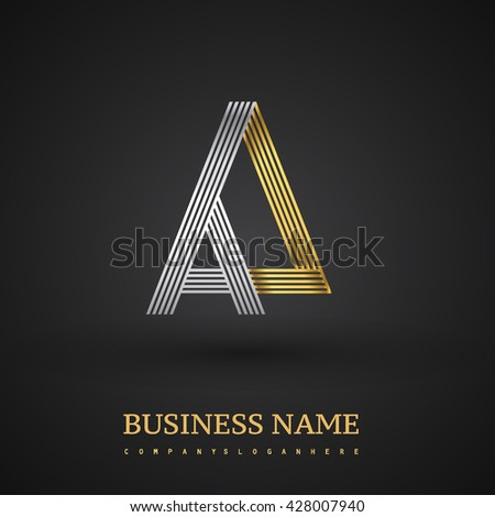 Letter Aa Linked Triangle Shape Logo Stock Vector Royalty Free