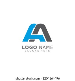Letter AA Logo Design Vector Template