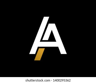 Letter A or AA Logo Template, Icon, Symbol