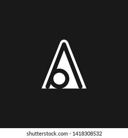 Letter AA OA AO A O Clean and Minimal Initial Based Logo Design