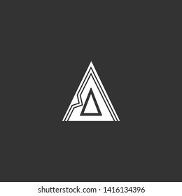 Letter AAA Clean and Minimal Initial Based Logo Design