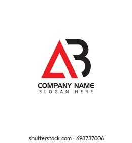 Letter AB logo design template elements