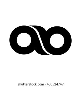 letter ab logo with infinity shape