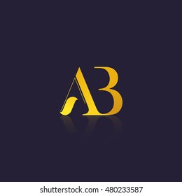 Letter AB that can be used as initial logo