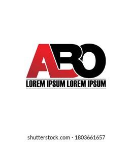 Letter ABO monogram logo design vector