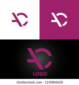 letter AC Logo Design Template Element