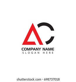Letter AC logo design template elements