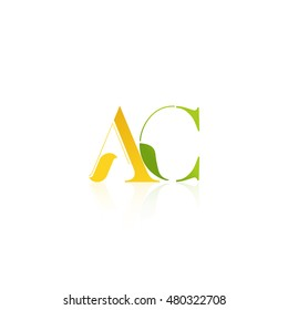Letter AC that can be used as initial logo