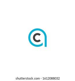 Letter AC/CA logo design template vector illustration