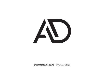 Letter AD logo design vector. monogram logo vector illustration.