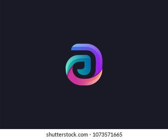 letter AE logo design template