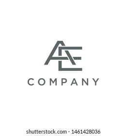Letter AE logo. initial design template