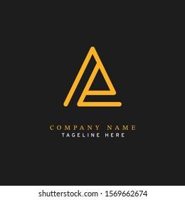 Letter AE logotype Monoline style, simple and elegant AE logo - Vector