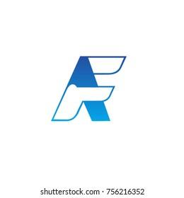 letter AF, FA logo template